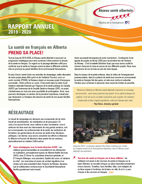Rapport annuel 2019-2020
